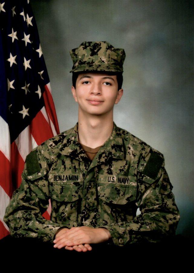 Jack Benjamin's official US Navy portrait / Credit: Richard Benjamin